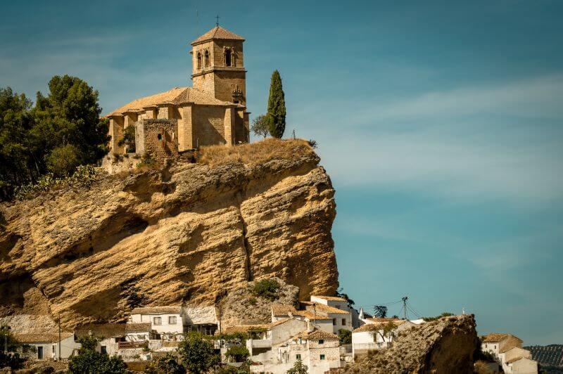 Burg von Montefrio in Andalusien