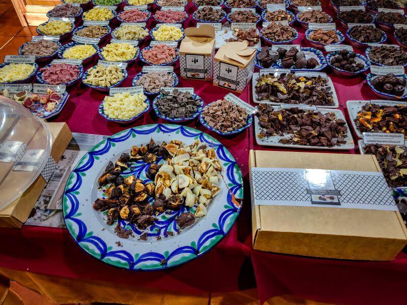 Schokoladenverkauf in Pitres
