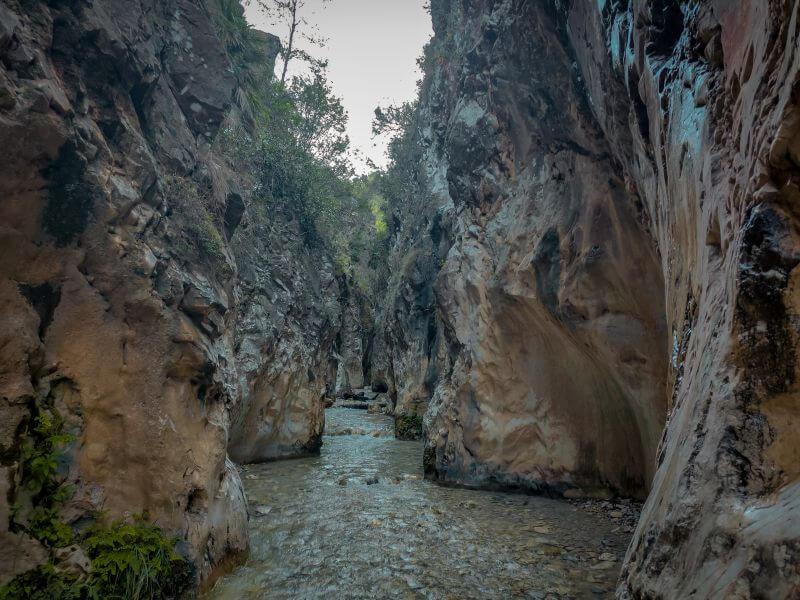 Schlucht am Rio Chillar