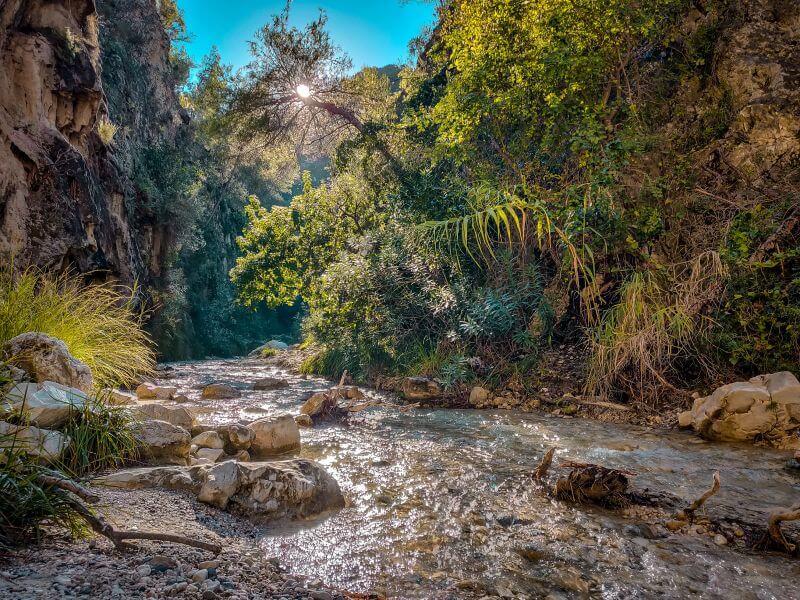 Rio Chillar Fluss Sonne geht auf
