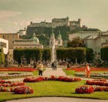 View through the Mirabelle Garden in Salzburg