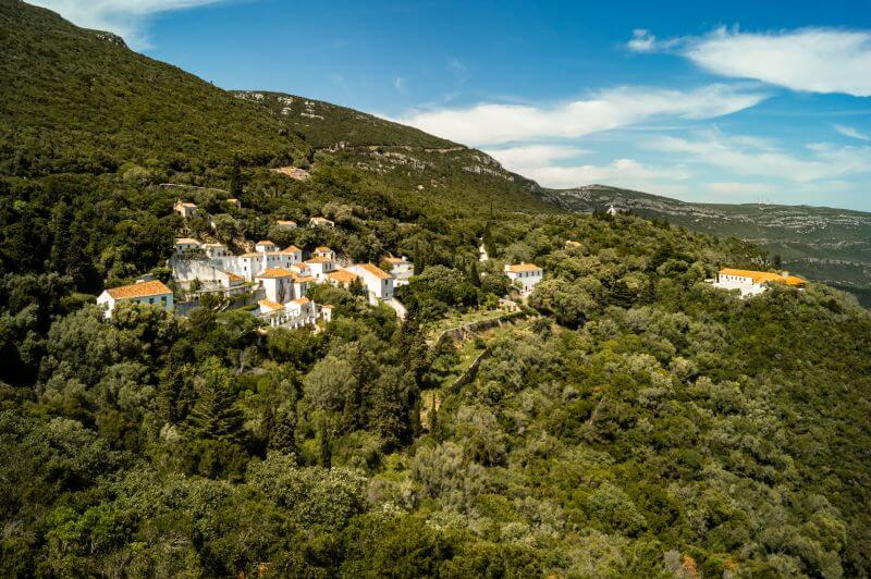 Franziskanerkloster im Naturpark Arrabida südlich von Lissabon in Portugal
