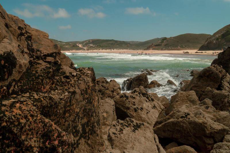 Klippen vom Praia do Amado