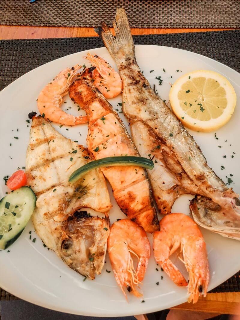 Frischer Fisch im Fischrestaurant Rossio in Albufeira Portugal