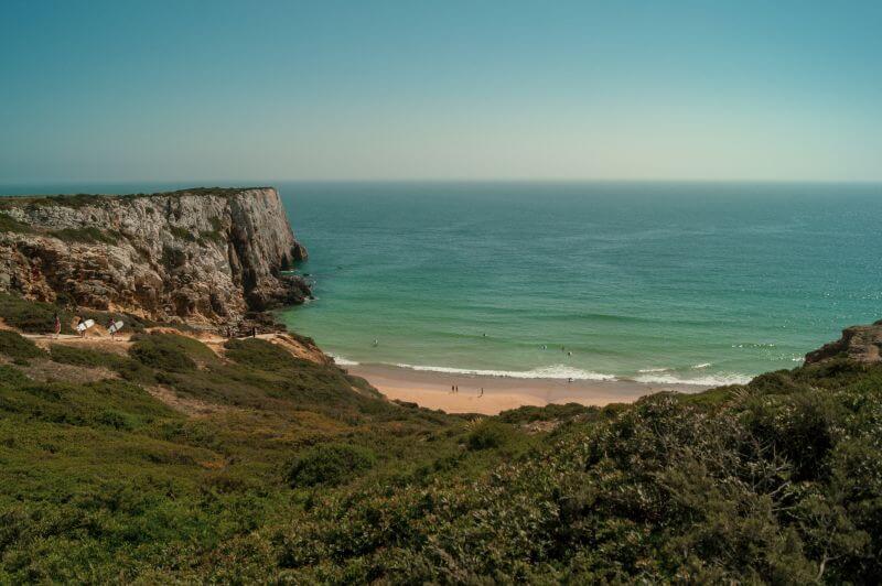 Der Zugang zum Praia do Beliche bei Sagres