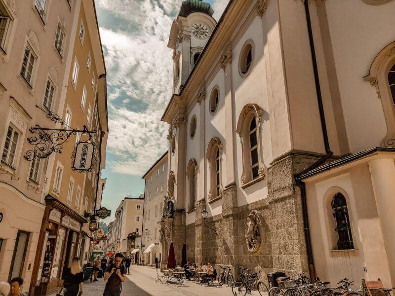 Linzer Gasse in Salzburg