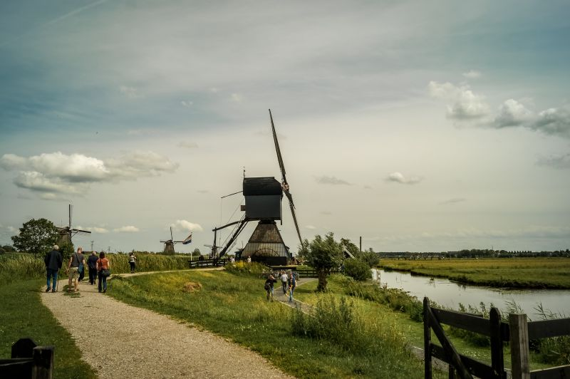 Blokweer Windmühle in Kinderdijk