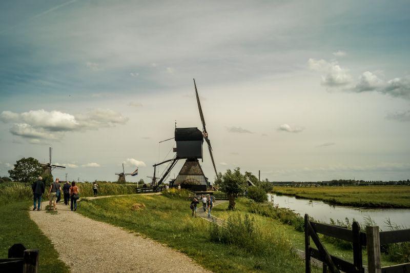 Blokweer Windmühle in Kinderdijk