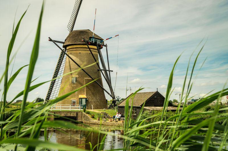 Windmühle als Wohnhaus in Kinderdijk