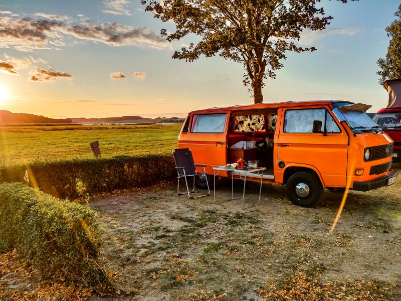 Camping am Campingplatz bei Thiessow