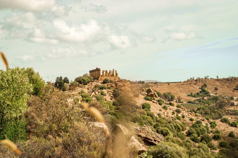Heratempel im Tal der Tempel auf Sizilien