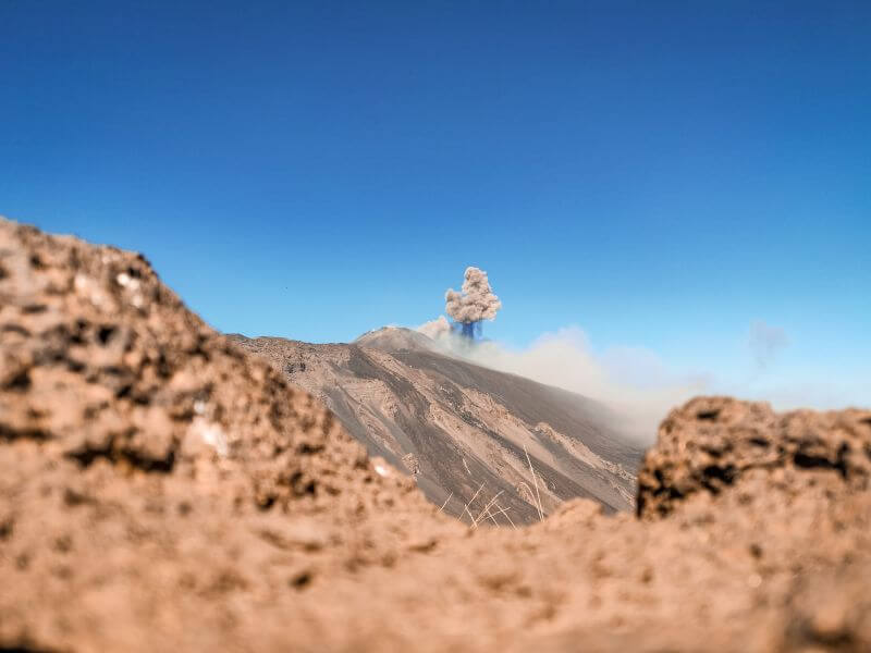 Sizilien Rundreise Ausbruch des Etna