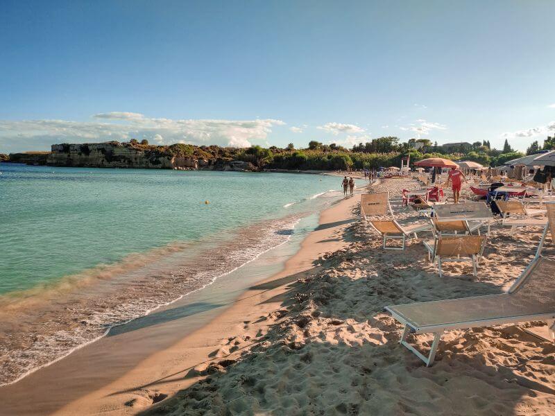 Strand Fontane Bianche auf Sizilien