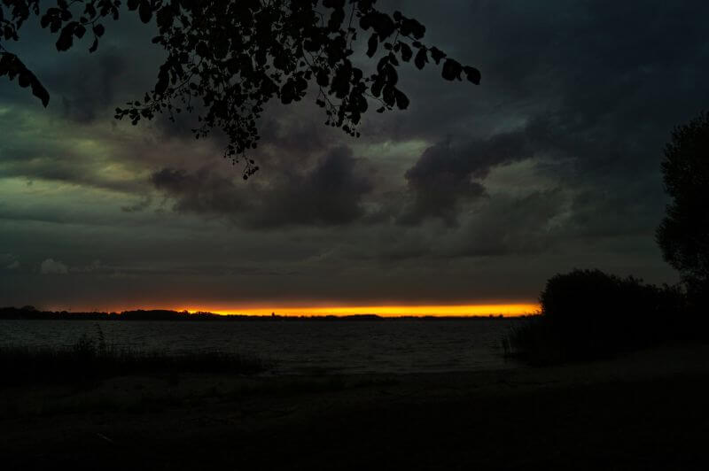 Sonnenuntergang Plauer See