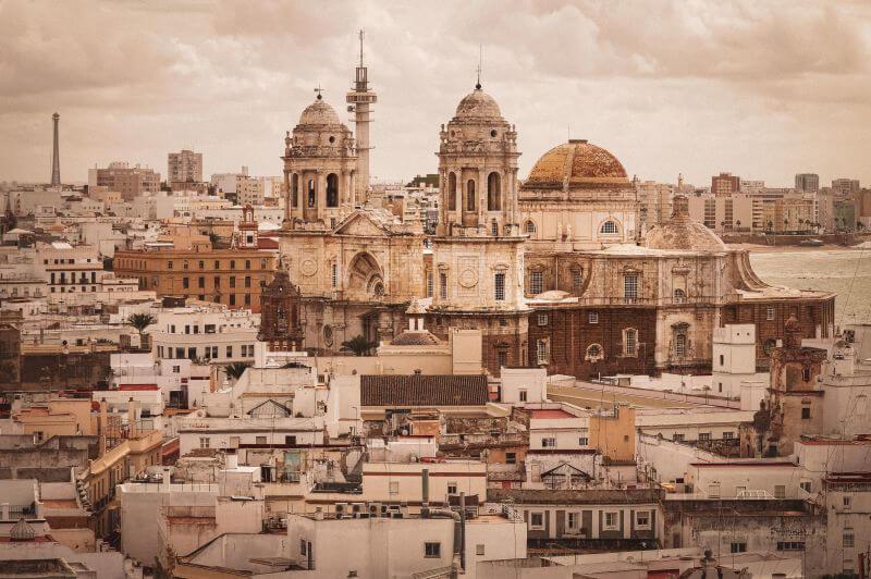 Cadiz Altstadt mit Kathedrale