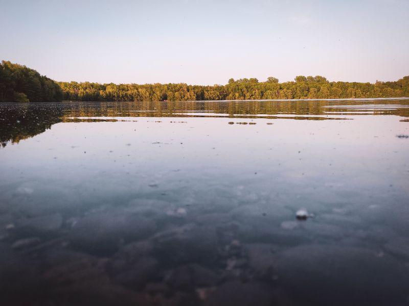 Der Silbersee im Naherholungsgebiet Volkardey