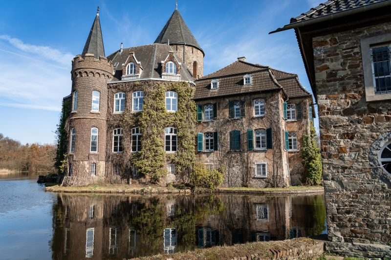 Schloss Linnep Wassergraben