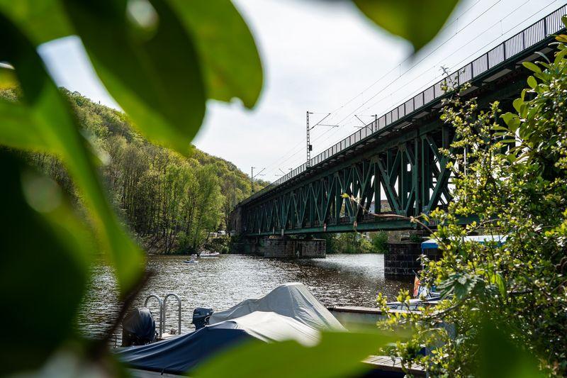 Eisenbahnbrücke an der Ruhr