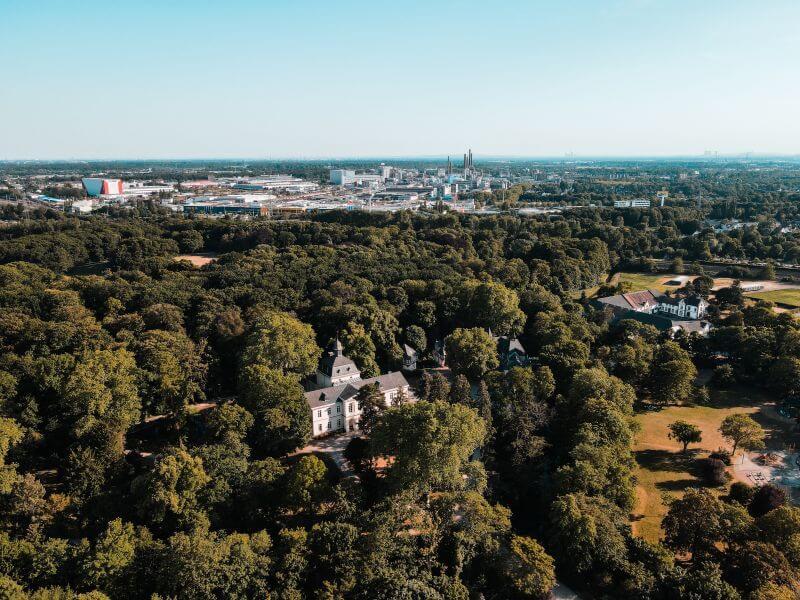 Schloss Eller von oben.