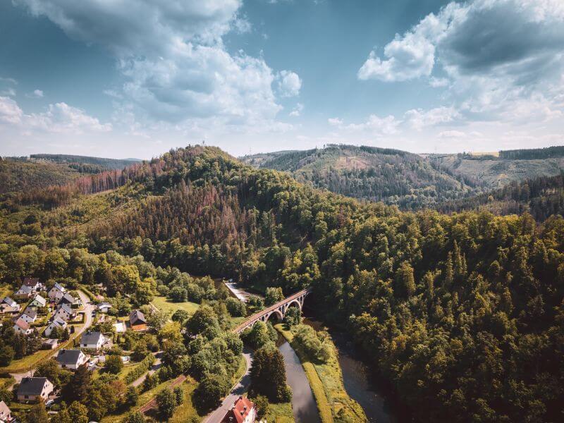 Wochenendtrips Deutschland: Thüringer Schiefergebirge Obere Saale.