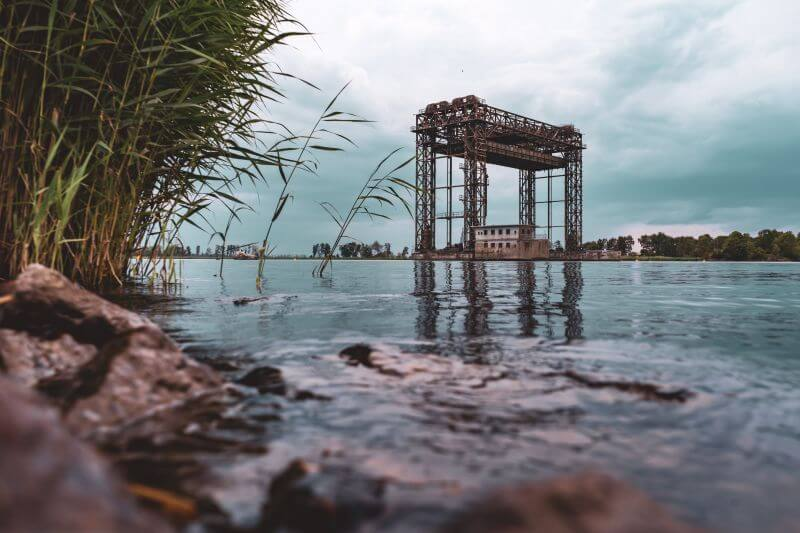 Hubbrücke bei Karnin auf Usedom.