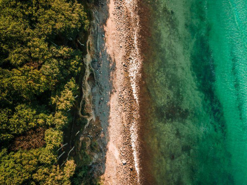 Ostseeküste von oben