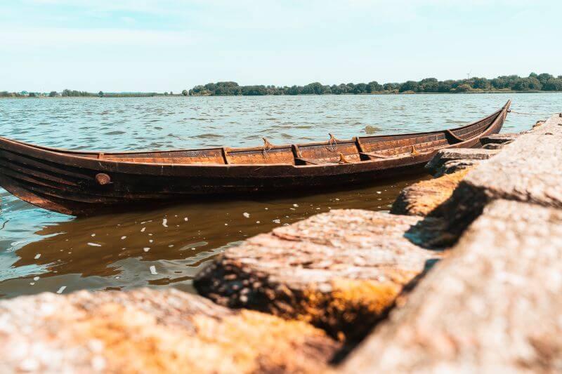 Wikinger Boot vom Wikingerdorf Haithabu an der Schlei