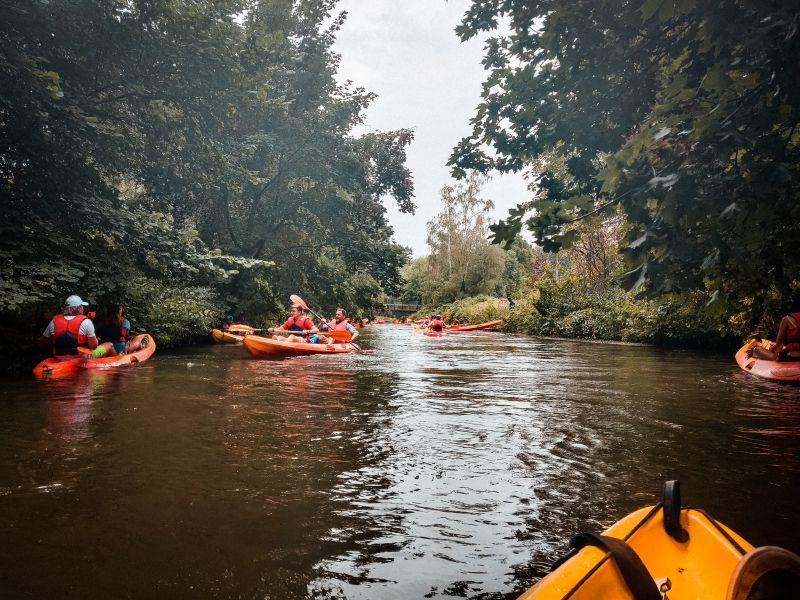 Kayak auf der Erft