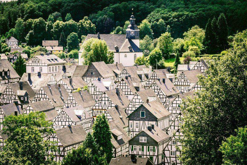 Fachwerkhäuser alter Flecken in Freudenberg