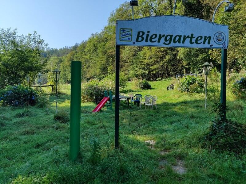 Lost Place Biergarten an der Wupper