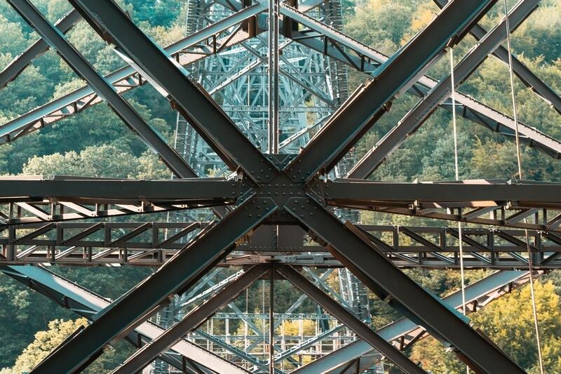 Stahlkonstruktion der Müngstener Brücke